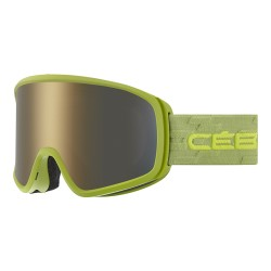 Очила CEBE Striker Evo olive lime Dark Grey Flash Gold CBG357