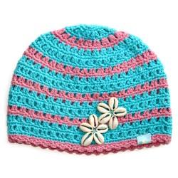Дамска шапка плетена O'NEILL 516 blue pink