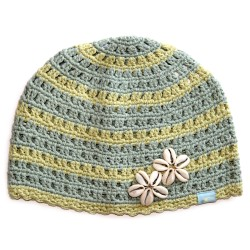 Дамска шапка плетена O'NEILL 516 light blue green