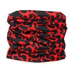 Мултифункционална кърпа Bandana black red