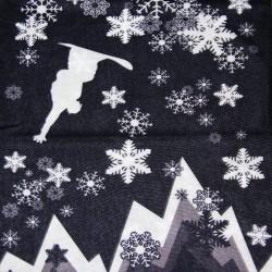 Мултифункционална кърпа за глава Bandana snow flakes