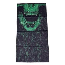 Мултифункционална кърпа за глава Bandana skull green
