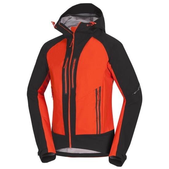Мъжко водоустойчиво Softshell яке NORTHFINDER Roston black orange