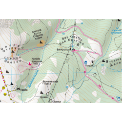 Туристическа карта на Витоша и Лозенска планина с GPS координати