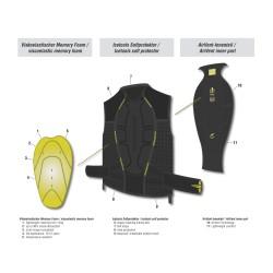 Протектор за гръб дамски ICETOOLS Evo Shield Lady 647003 black plum