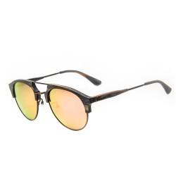 Слънчеви очила с дървена рамка 7th Sense Eventyr Grey Yellow mirror Polarized