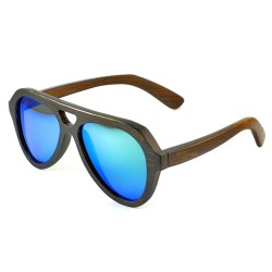 Слънчеви очила с дървена рамка 7th Sense Fay blue green Polarized