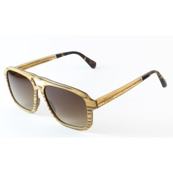 Слънчеви очила с дървена рамка 7th Sense Shyne Brown Polarized