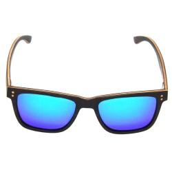 Слънчеви очила с дървена рамка 7th Sense Bliss Polarized green blue