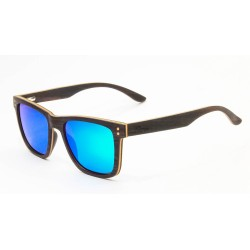 Слънчеви очила с дървена рамка 7th Sense Bliss Polarized green purple