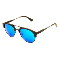 Слънчеви очила с дървена рамка 7th Sense Eventyr Grey Blue mirror Polarized