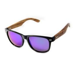 Слънчеви очила с дървена рамка 7th Sense Joy blue purple