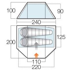 Палатка двуместна - VANGO Tango 200