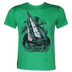 """Мъжка тениска BASICS """"Frigate"""" green"""