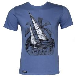 """Мъжка тениска BASICS """"Frigate"""" blue"""