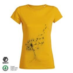 Дамска тениска BASICS Dandelion Surfers yellow