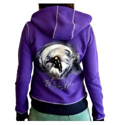 Дамски суитшърт BASICS Mystic Snowboarder [purple]